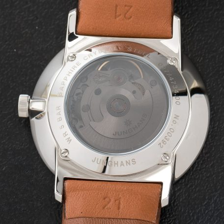Junghans Form A Automatic Date Calfskin Tan Strap White Dial watch 027/4734.00