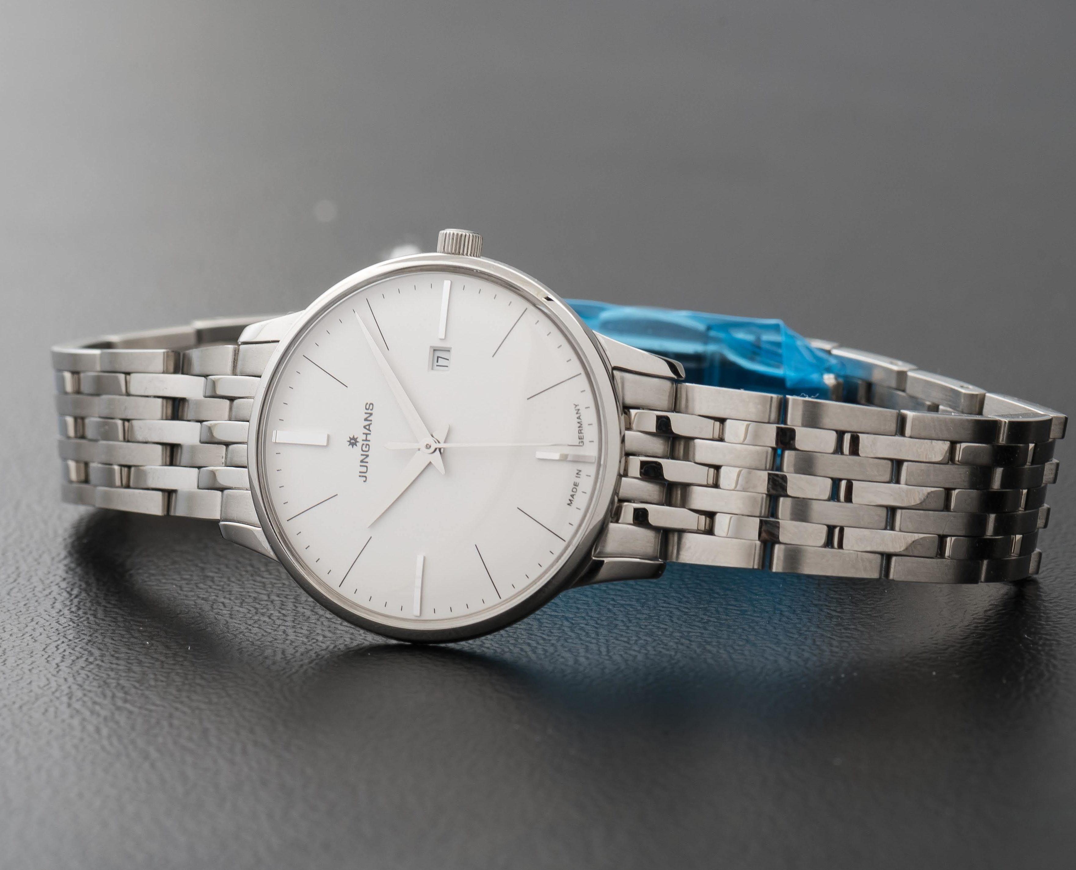Junghans Meister Ladies Quartz Date Silver Steel Bracelet & Case 047/4372.44