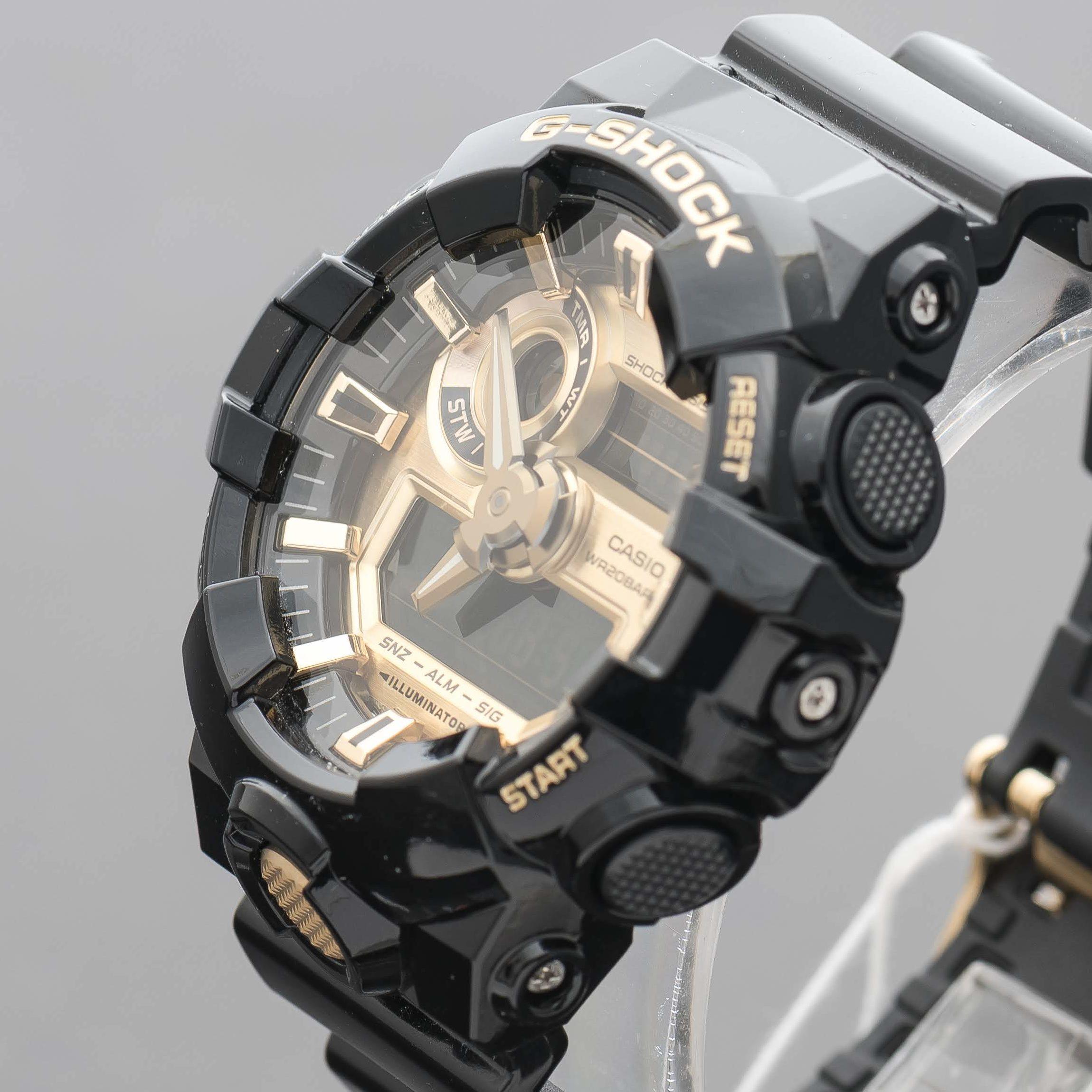 Casio G-Shock Alarm Chronograph Mens Watch GA-710GB-1AER