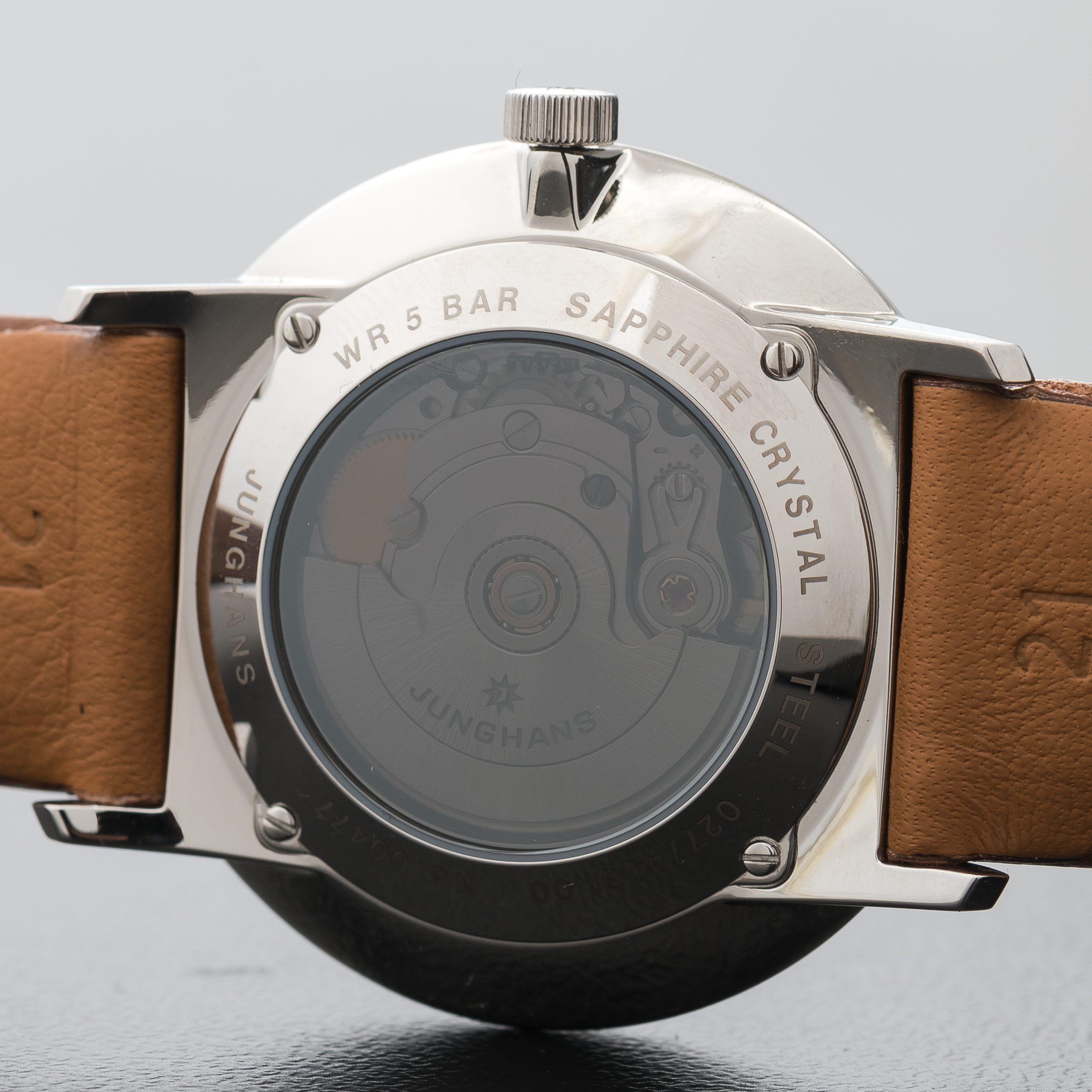 Junghans Form A Automatic Date Leather Tan Strap White Dial Numerals 027/4734.00