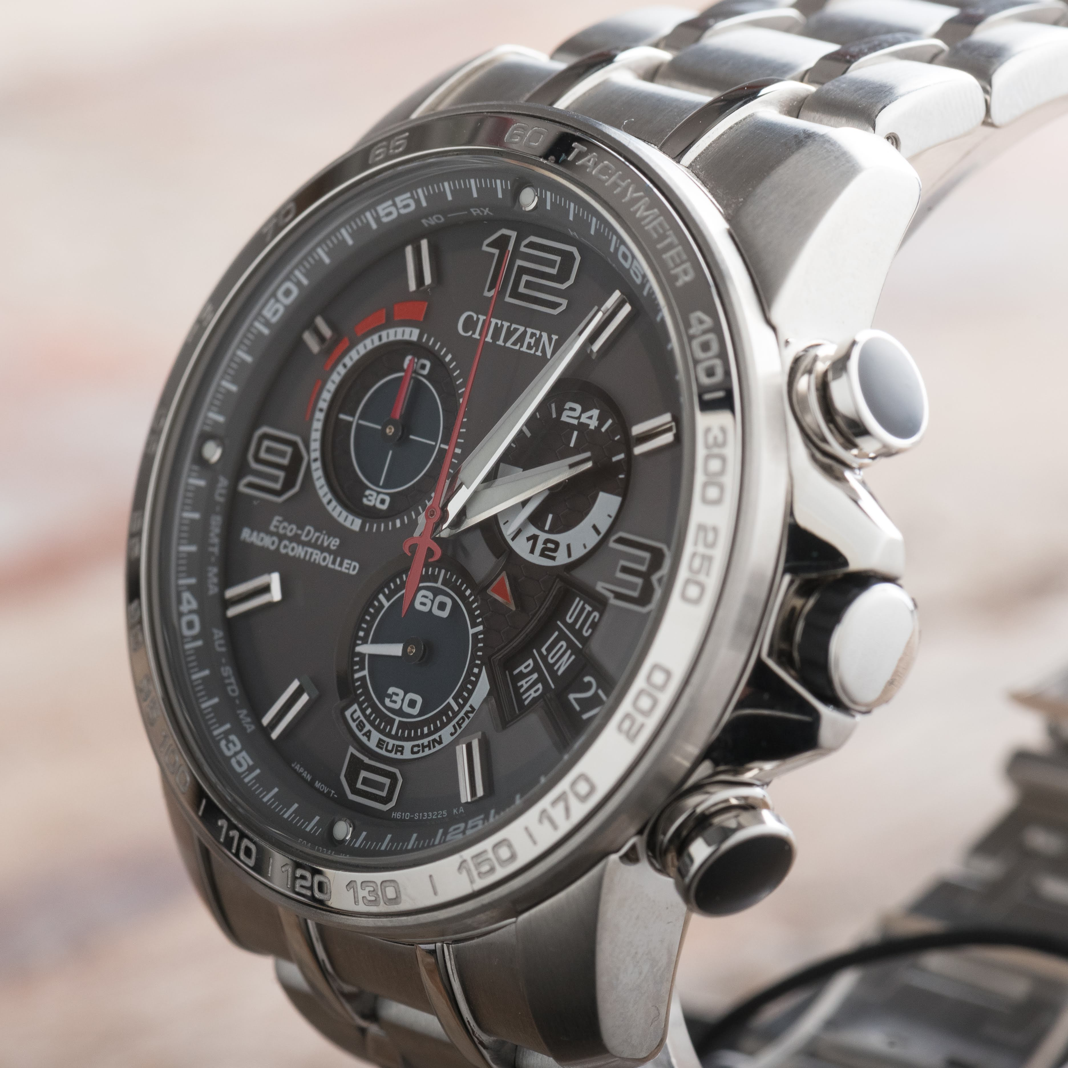 Citizen Chrono Time A-T Radio Controlled Chronograph Day Date Watch BY0100-51H