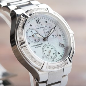 Citizen Ladies Silhouette Diamond Sport Chronograph Eco-Drive Date FB1020-52D