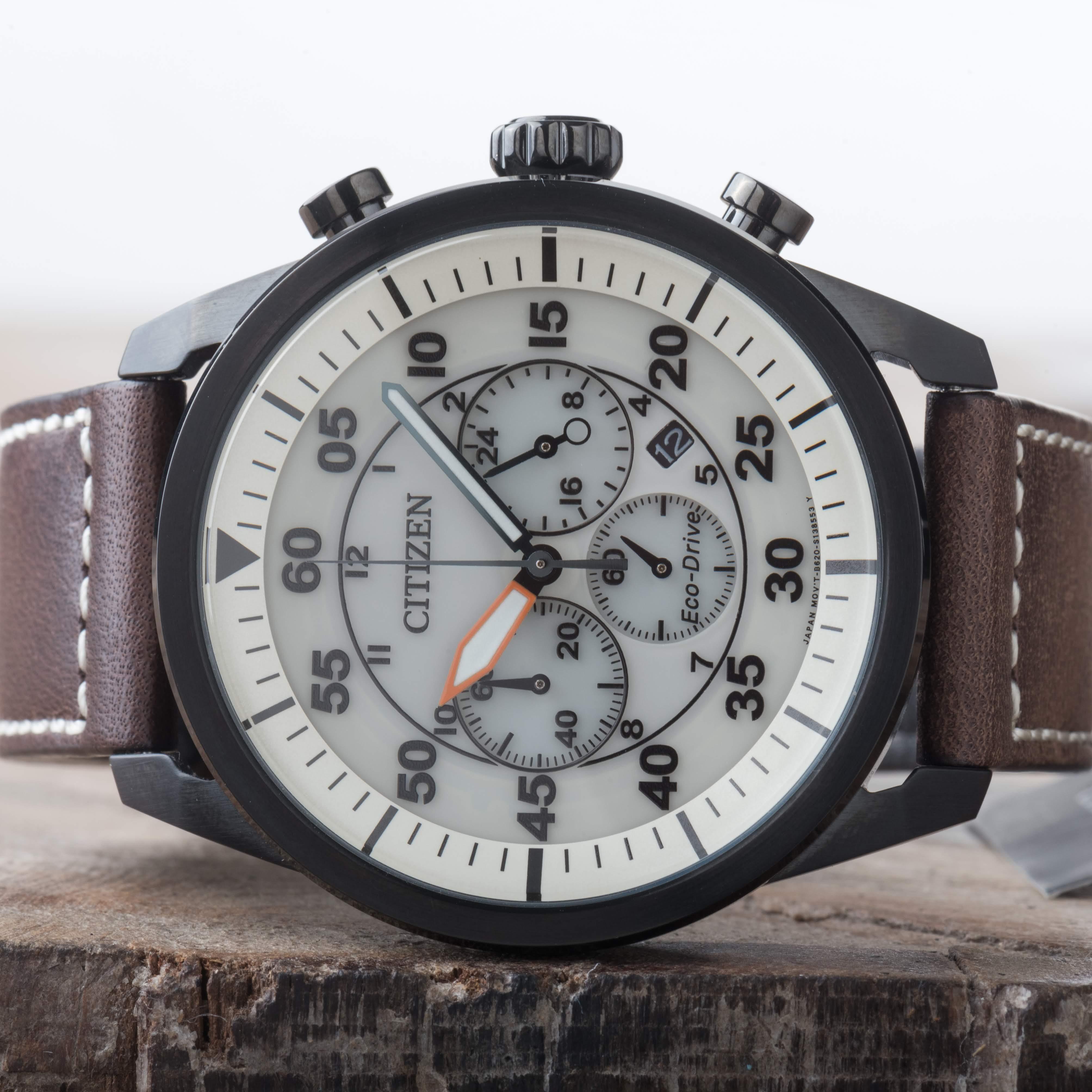 Citizen Eco-Drive Aviator Chronograph Date Men's Watch CA4215-04W