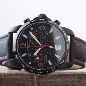 Certina DS Podium GMT Chronograph BIG Black Dial Date Watch C0016391605702