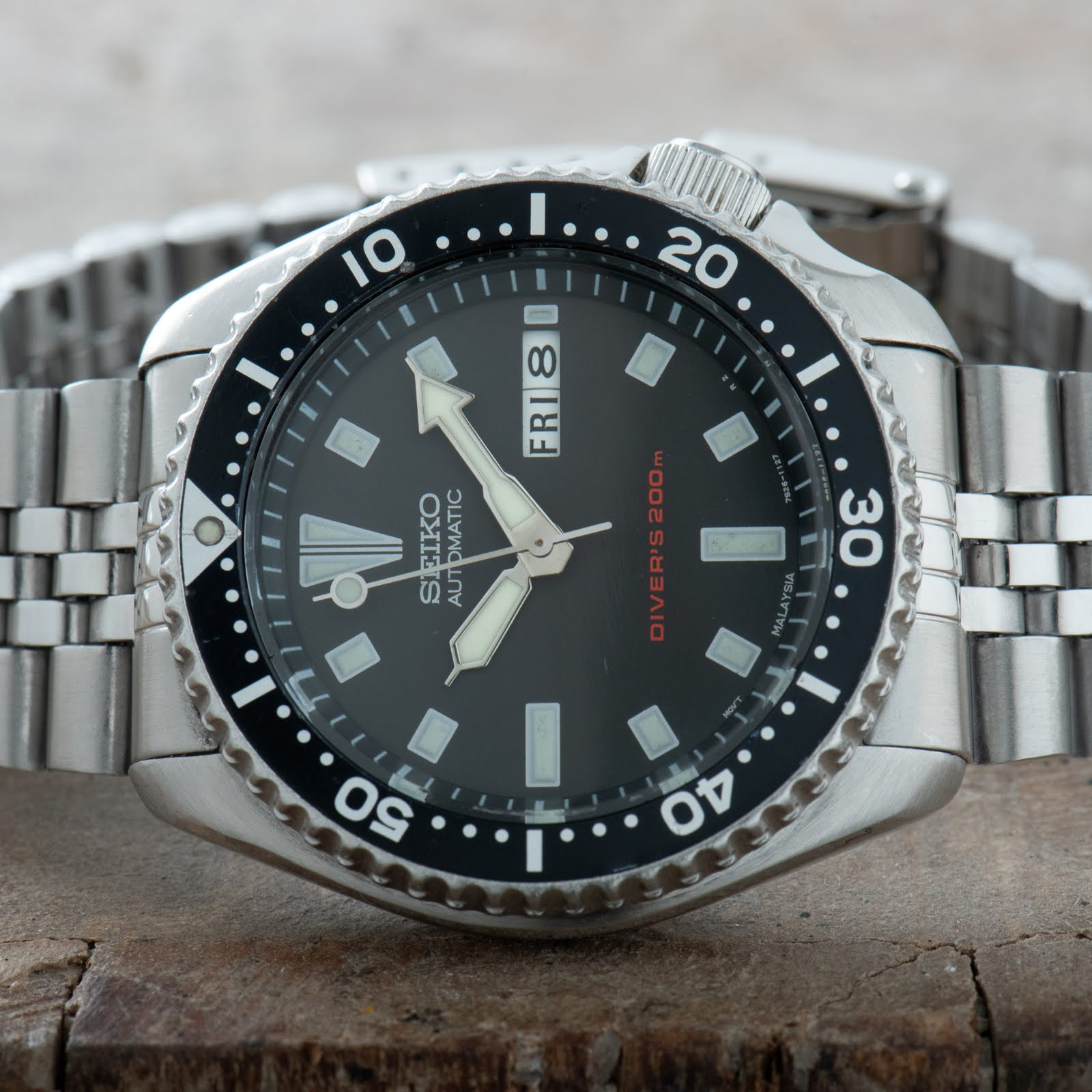 Seiko SKX173 Divers Watch Jubilee bracelet 150M Day Date Original Men #0333