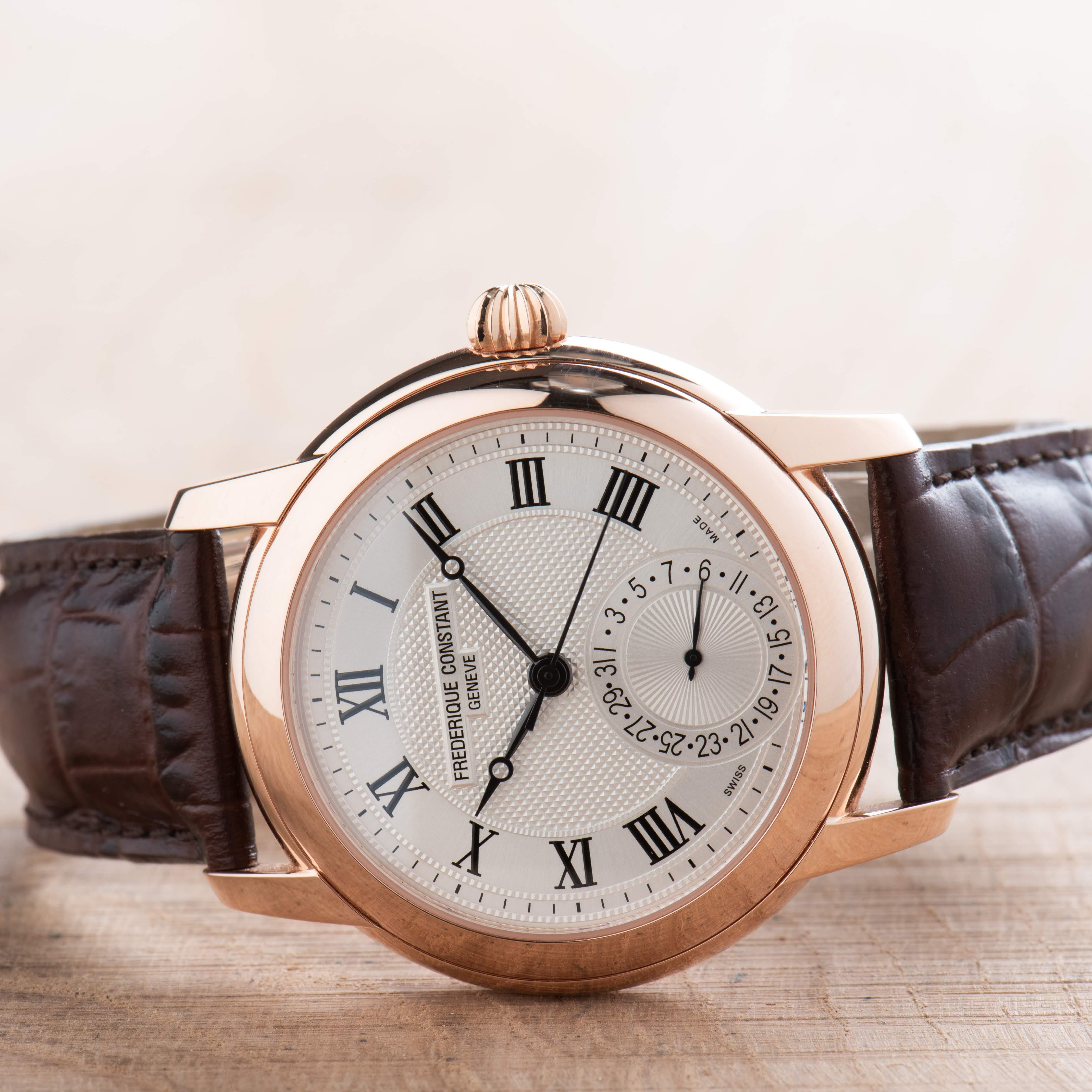 Frederique Constant Manufacture Date Rose Gold Men's Watch ref. FC710MC4H4
