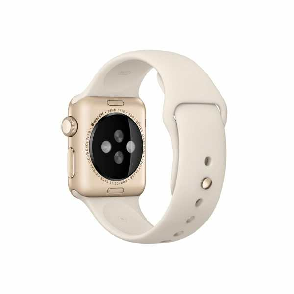 Apple watch bandjes - Apple watch rubberen sport bandje - antique white-003