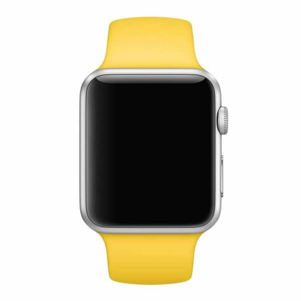 Apple watch bandjes - Apple watch rubberen sport bandje - geel-006