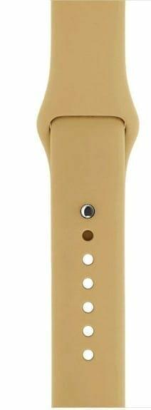 Apple watch bandjes - Apple watch rubberen sport bandje - walnut-005