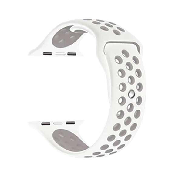 Rubberen sport bandje voor de Apple Watch Wit Lavendel-002