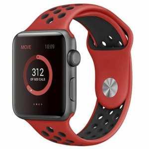 sport bandje voor de Apple Watch - Rood Zwart-003