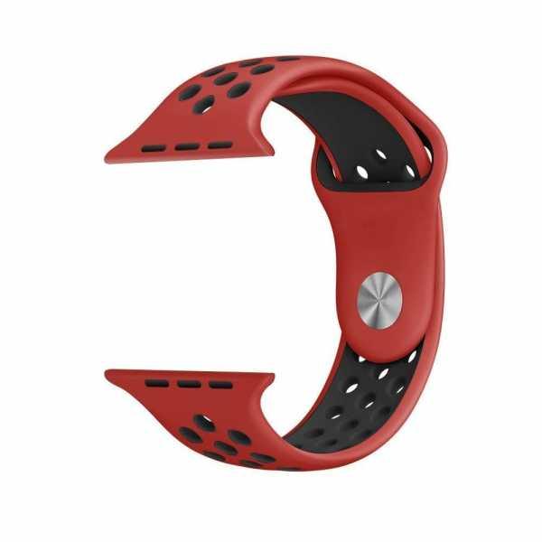 sport bandje voor de Apple Watch - Rood Zwart-005