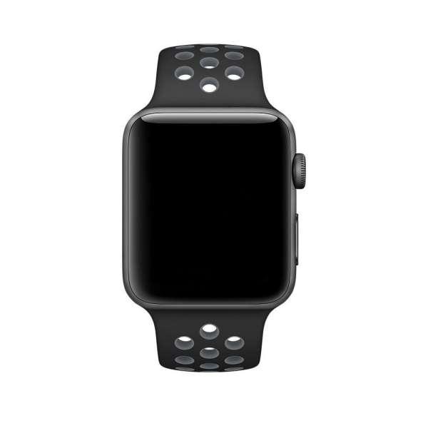 sport bandje voor de Apple Watch-Zwart-Grijs-005