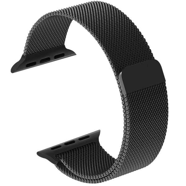 Milanese Loop rvs zwart bandje voor de Apple Watch 42mm-011
