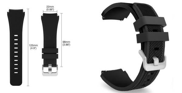 Bandje Voor de Samsung Gear S3 Classic Frontier wit-006