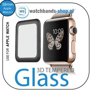 38mm full Cover 3D Tempered Glass Screen Protector For Apple watch iWatch 2 black edge_001