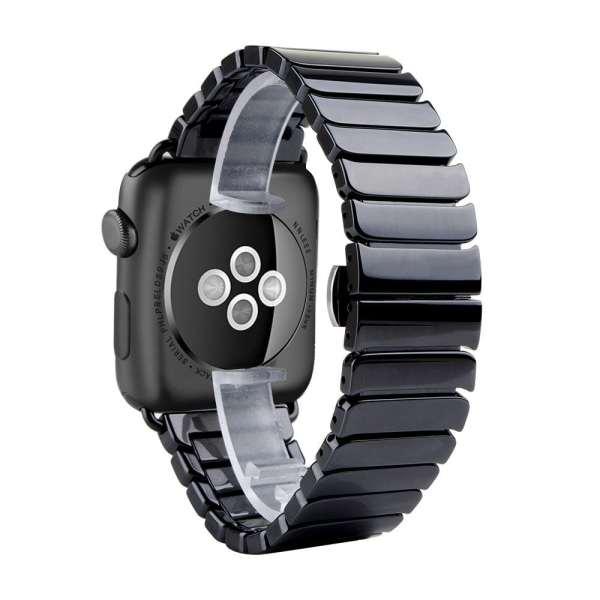Keramische vervangend bandje voor Apple Watch iwatch Series 1-2-3 42mm zwart-003