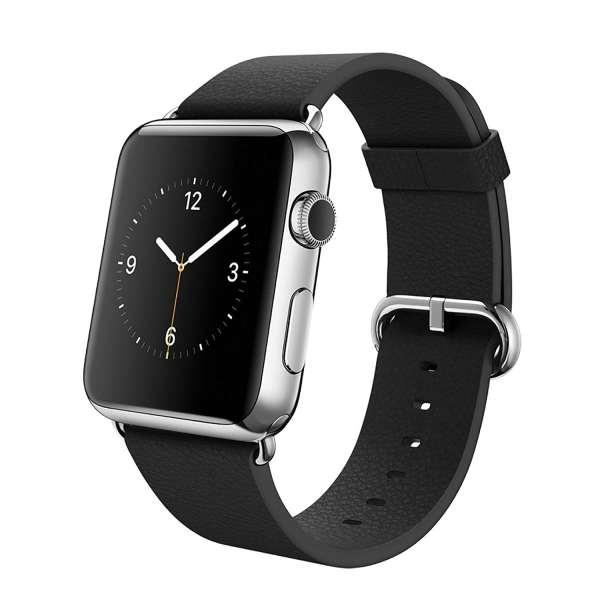Luxe Classic Lederen armband voor de Apple Watch (38mm) zwart-005