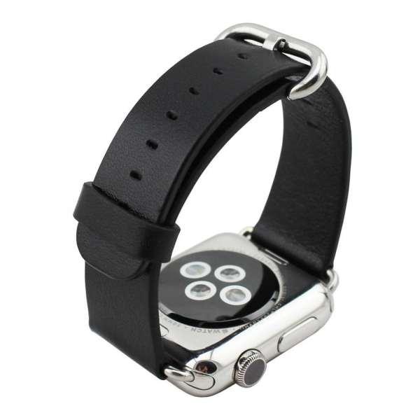 Luxe Classic Lederen armband voor de Apple Watch (38mm) zwart-006