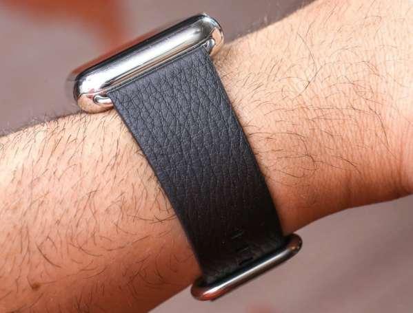 Luxe Classic Lederen armband voor de Apple Watch (38mm) zwart-009