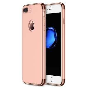 3 in 1 Rose gouden zilveren telefoonhoesje voor iPhone 7 Ultradunne TPU beschermhoes-003