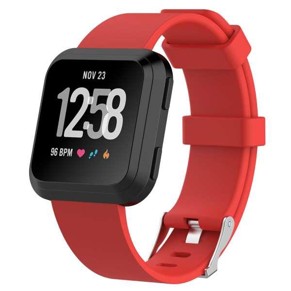 Luxe Siliconen Bandje large voor FitBit Versa – rood-002