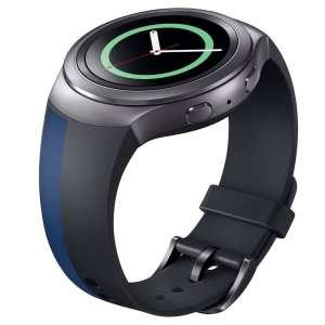 Samsung Gear S2 bandje silicone zwart blauw_004