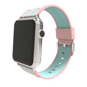 Apple watch bandje 38mm duo roze - groen_004