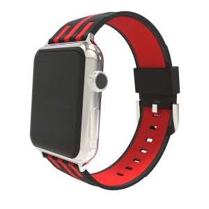 Apple watch bandje 38mm duo zwart - rood_003