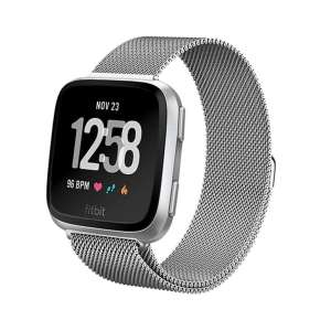 Fitbit Versa bandje milanese loop RVS zilver kleurig_008