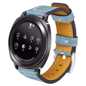 Samsung Gear Sport 20mm bandje Samsung Galaxy 42mm bandje SM-R810 leer blauw_001