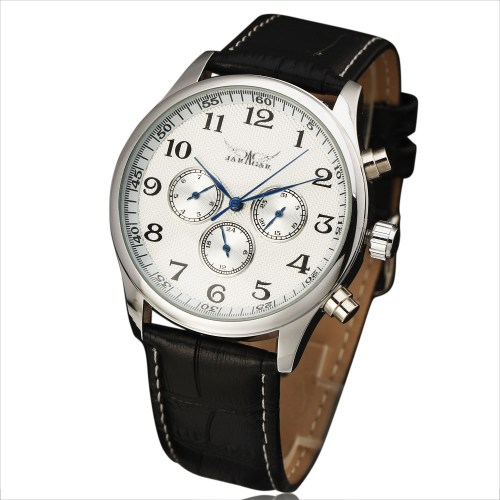 JARAGAR Automatic Mechanical Self-Wind Thin Case Watch
