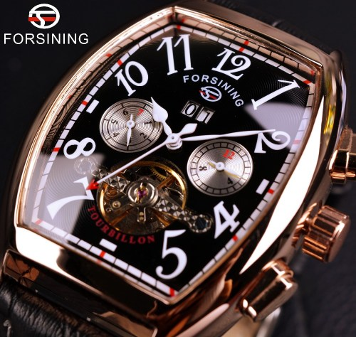Forsining Rose Gold Case Automatic Watch
