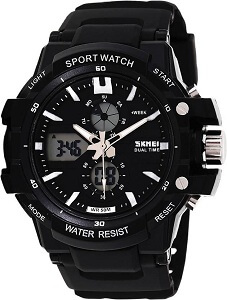 Skmei 0990BLK Rugged Analog-Digital Watch