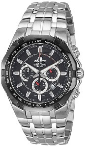 Casio Edifice Tachymeter Chronograph Black Dial Men's Watch - EF-540D-1AVDF