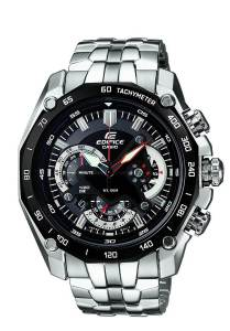 Casio Edifice Tachymeter Chronograph Black Dial Men's Watch - EF-550D-1AVDF