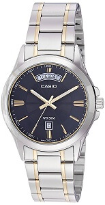 Casio Enticer Analog Black Dial Men's Watch - MTP-1381G-1AVDF