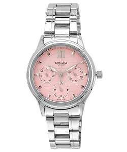 Casio Enticer Analog Silver Dial Women's Watch - LTP-E306D-4AVDF