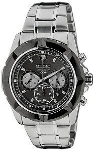 Seiko Lord Chronograph Black Dial Men's Watch - SRW023P1