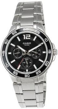 Casio Enticer Black Dial Men's Watch – MTP-1300D-1AVDF