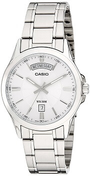 Casio Enticer Analog Silver Dial Men's Watch – MTP-1381D-7AVDF