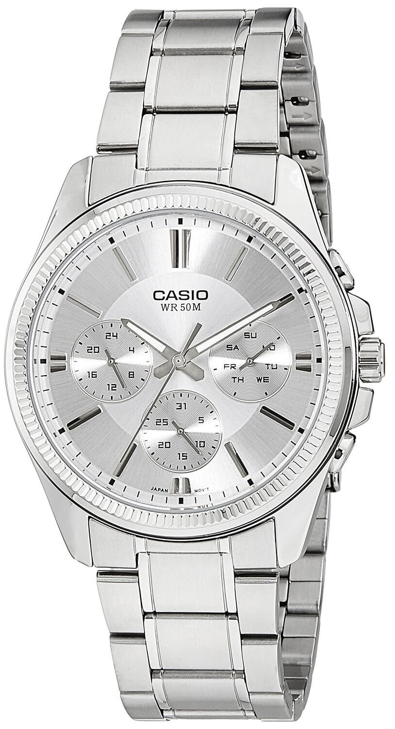 Casio Enticer White Dial Men's Watch – MTP-1375D-7AVDF