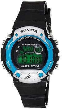 Sonata Digital Grey Dial Men's Watch – NG7982PP04J