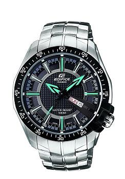 Casio Edifice Analog Black Dial Men's Watch – EF-130D-1A2VDF