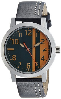 Fastrack Analog Black and orange Dial Men's Watch – 3162SL01