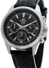 Casio Edifice Chronograph Black Dial Men's Watch - EFR-527L-1AVUDF