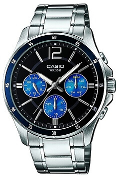 Casio Enticer Analog Black Dial Men's Watch – MTP-1374D-2AVDF