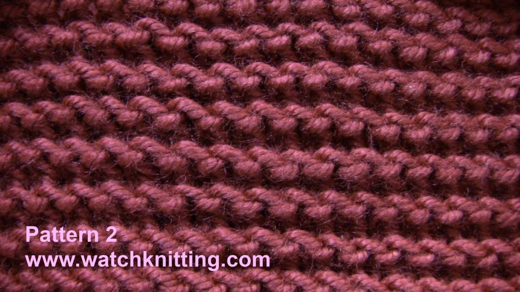 Knitting Pattern Says No Stitch :   Stitch 2   Garter Stitch
