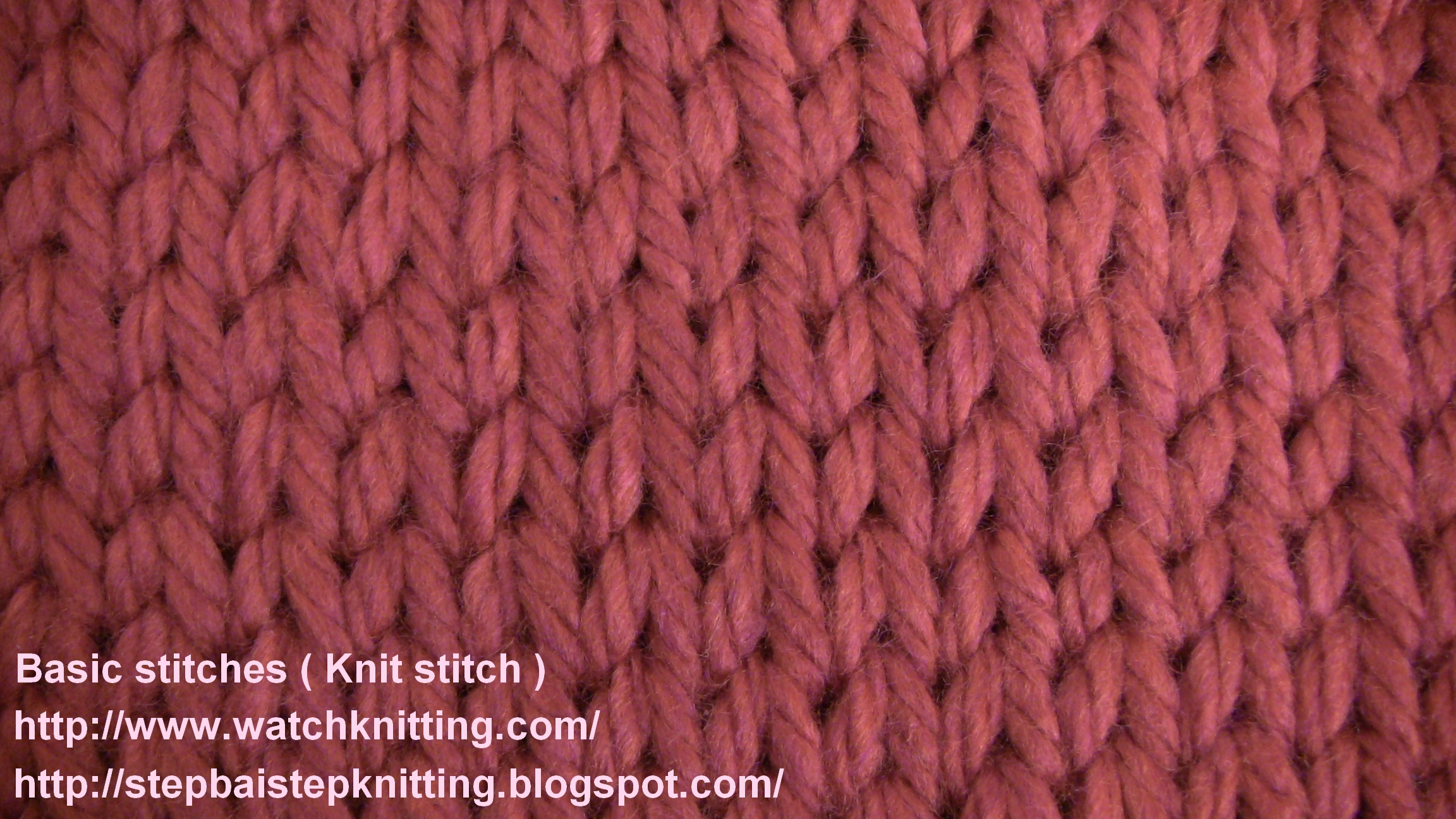 Basic Knitting Tutorial Pdf : Tutorial knit stitch