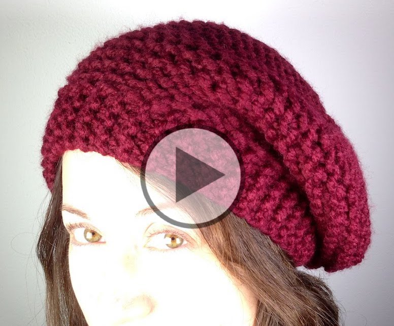 Loom Knit a Beret Hat - Step by Step Tutorial
